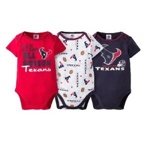 6a1b43ec6 Gerber Baby Boy 3-Piece NFL Houston Texans Short Sleeve Onesies Set ...