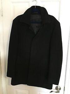 Calvin-Klein-CK-Men-039-s-Wool-Jacket-Black-Size-38-Slim-and-Stylish-Medium-Business