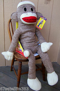 MAXX-The-Sock-Monkey-GIANT-38-SIZE-Jumbo-Plush-Toy-Max-NEW-IN-BOX