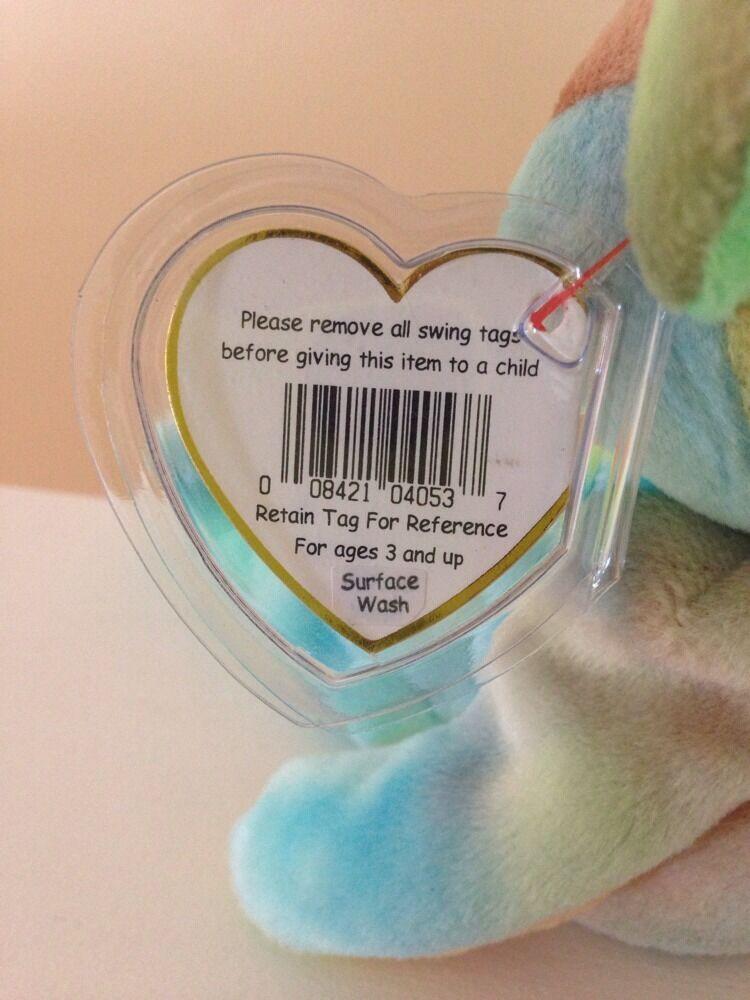 Rare Rare Rare Peace TY Beanie Baby - 2 Errors on Swing Tag