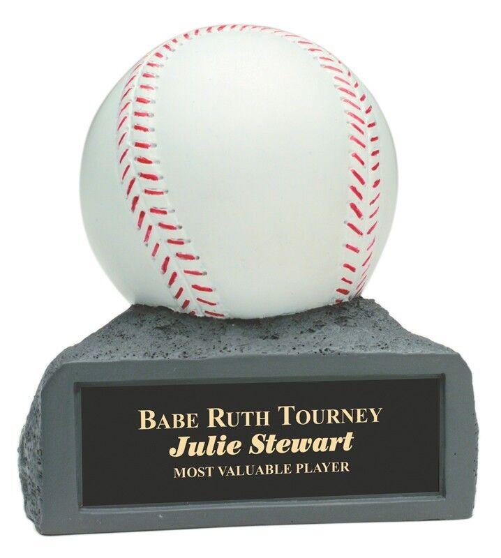 2 pcs Baseball Resin Statue Award Trophy