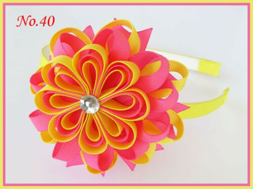 "100 BLESSING Good Girl Modern Style Headband 3.5/"" B-Bird/'s Nest Hair Bow 158 No."