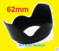Pro Flower Lens Hood 62mm Fit Olympus Evolt-500 With 18-180mm E-500