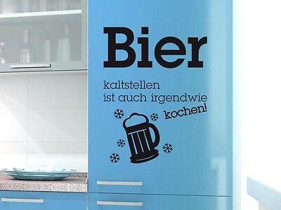 Kühlschrank Aufkleber Wandtattoo Tattoo für Küche Bier kaltstellen Spruch