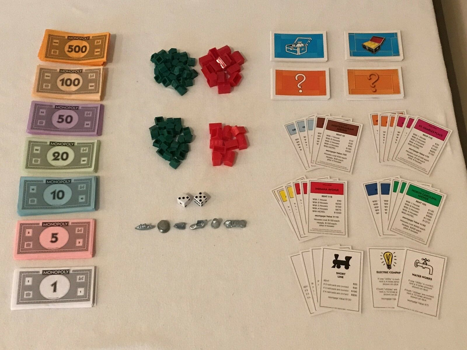 Monopoly Board Game REPLACEMENT Parts Pieces Houses Hotels Tokens Cards Property
