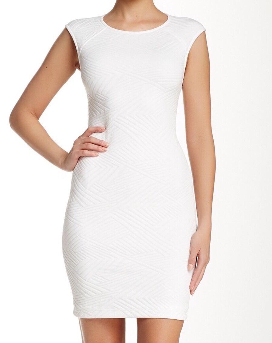 Cut25 Women's Sleeveless Engineered Jacquard Jacquard Jacquard Knit Dress  295 Sz 2 1372d2