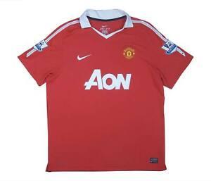 Manchester United 2010-11 ORIGINALE Maglietta (eccellente) XL soccer jersey