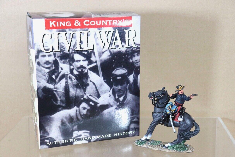 KING & COUNTRY CW061 CW061 AMERICAN CIVIL WAR MOUNTED OFFICER FIRING PISTOL nu