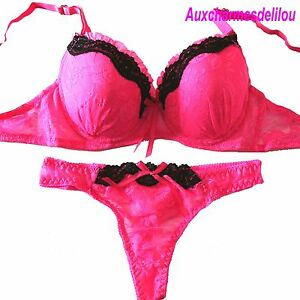 lingerie ensemble soutien gorge string 100b 44 neuf sous vetement femme sexy ebay. Black Bedroom Furniture Sets. Home Design Ideas
