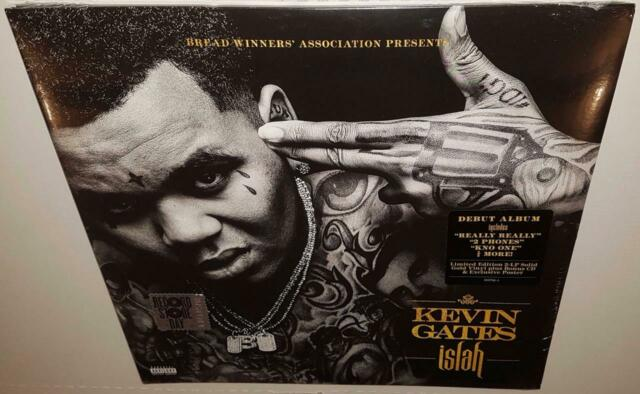 KEVIN GATES ISLAH (2016 RSD LTD EDITION) BRAND NEW SEALED SOLID GOLD VINYL LP