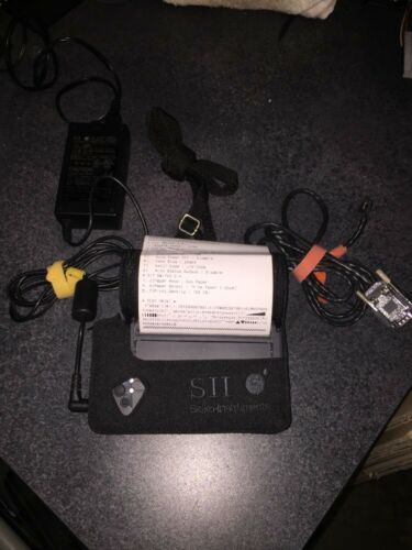 SII Seiko DPU-3445-20A Portable Serial Thermal Receipt Printer /&  Power Adapter