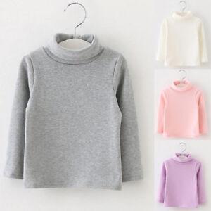 a4bd648bc538 Toddler Kids Baby Girl Long Sleeve High Winter Warm Tops T-Shirt ...
