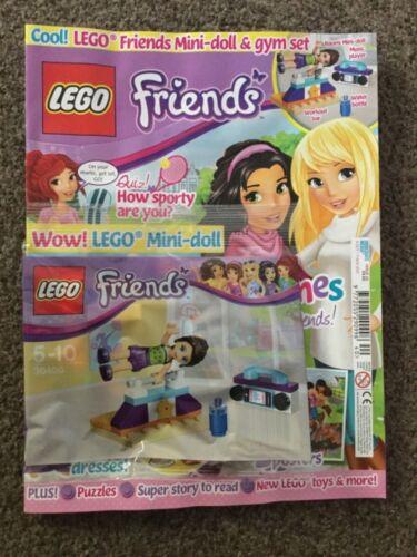 Lego Friends Magazine issue 40 mini doll /& gym set