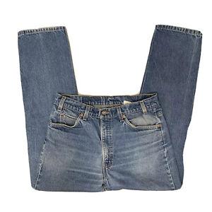 LEVI-S-505-Vtg-70s-80s-Orange-Tab-Distressed-Med-Wash-Blue-Jeans-Men-s-34-x-32
