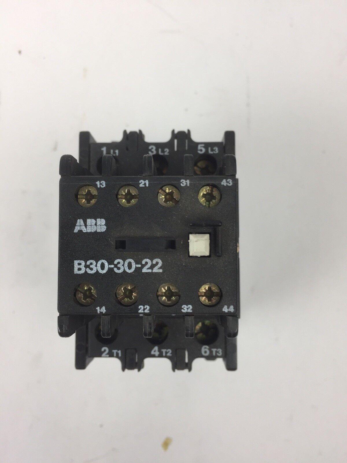 ABB B30-30-22 CONTACTOR 600V 45A COIL 277 V 60 HZ 240 V 50 HZ