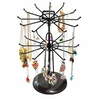 Mygift Black Metal Jewelry Organizer Tower Necklace Tree Bracelet Display Stand on sale