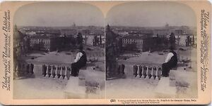 Roma Italia Foto Stereo Vintage Albumina 1900