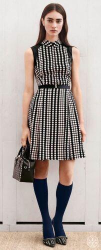 Tory Burch Katy Dress 12 XL Silk Polka Dot  Printe