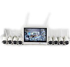 Kit videosorveglianza IP WIFI con 8 telecamere 960P 1,3 Mpx e monitor 12 pollici