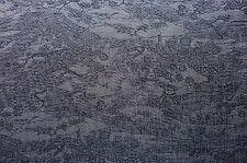 "Purple Fine Cloud Matsu Garden Vintage Japanese Kimono Silk Quilt Fabric 51"""