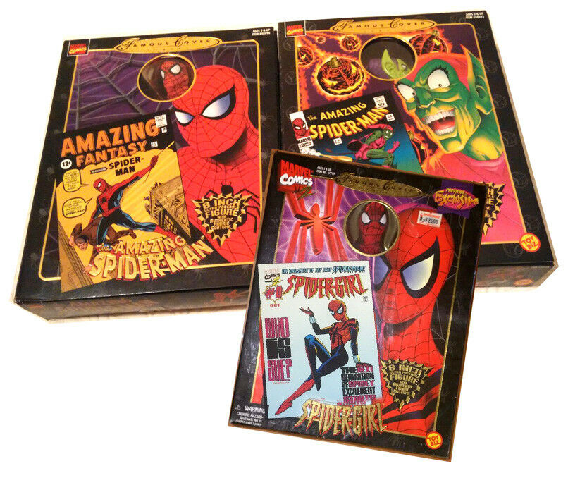 Spider-Man, Grün Goblin & Spider-Girl Famous Covers Figures