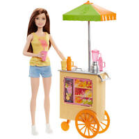 Barbie Smoothie Chef Barbie Career Brunette Doll With Juice Cart & Playset