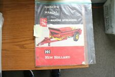 New Holland 210 325 Manure Spreaders Owners Manual