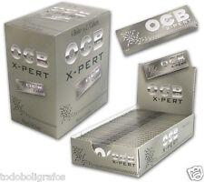 2 cajas de papel de fumar OCB xpert Plata ,  50 libritos . tamaño normal 1 1/4.
