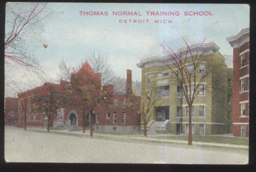 POSTCARD DETROIT MIMICHIGAN THOMAS NORMAL TRAINING SCHOOL 1910'S