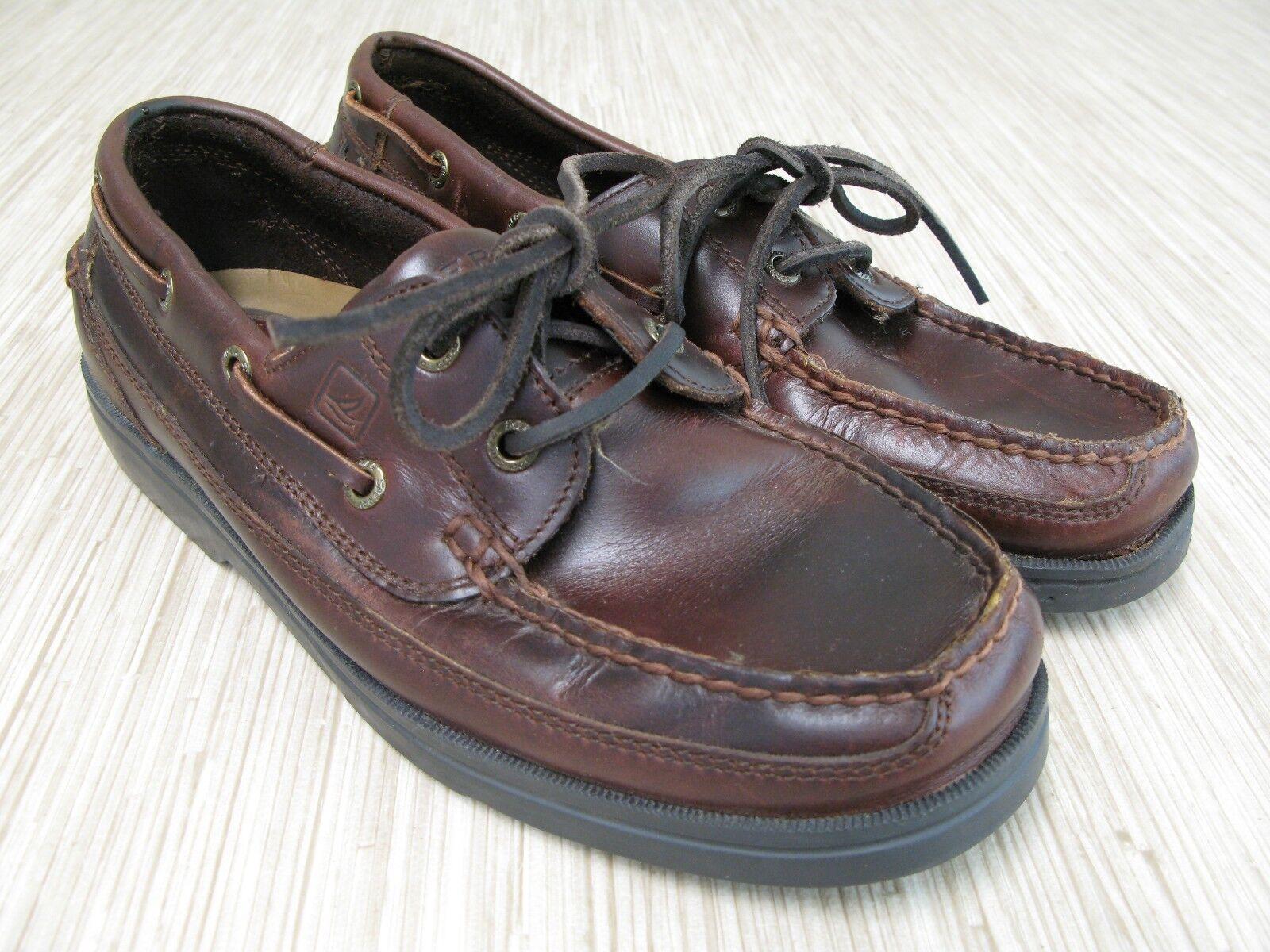 servizio onesto Sperry Top Sider Sider Sider Classic Collection Uomo Dimensione 8 M Marrone Leather 2-Eye Boat scarpe  vendita all'ingrosso