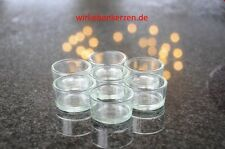 10 Teelichtgläser Teelichthalter Teelichtschalen Teelichtglas Kerzengläser