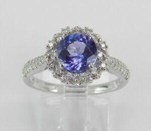 3Ct-Round-Cut-Blue-Tanzanite-Diamond-Halo-Engagement-Ring-14K-White-Gold-Finish