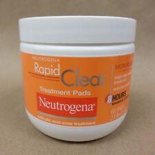 Neutrogena Rapid Clear Treatment Pads with Salicylic Acid NEW 60 Count Exp 07/18