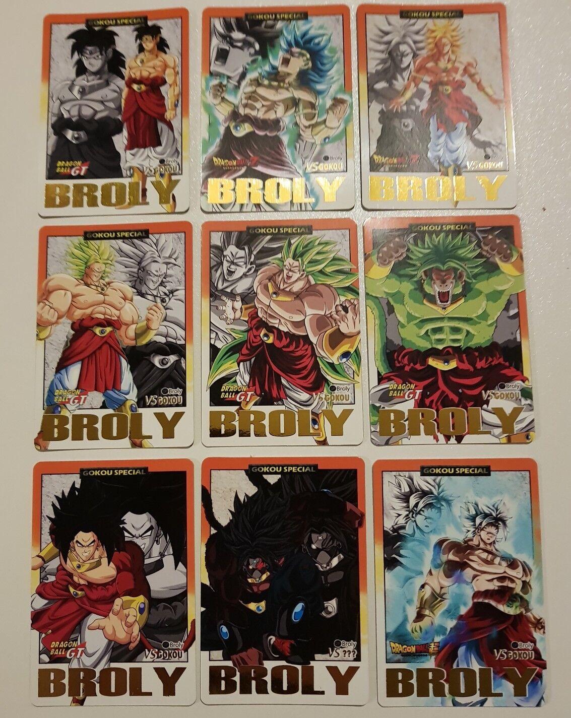 Carte Dragon Ball Z Carddass Spécial Premium gold Set Spécial Broly Limited