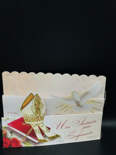/& CROZIER MITER Details about  /10 PCS CONFIRMATION INVITATIONS WITH ENVELOPES-WITH DOVE