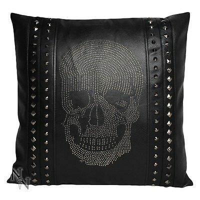 Nemesis Now Rhinestone Skull Cushion