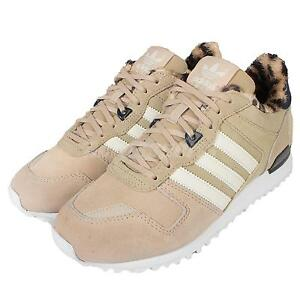 best authentic 06431 b2a56 Image is loading Adidas-Originals-ZX-700-W-Beige-Leopard-Womens-