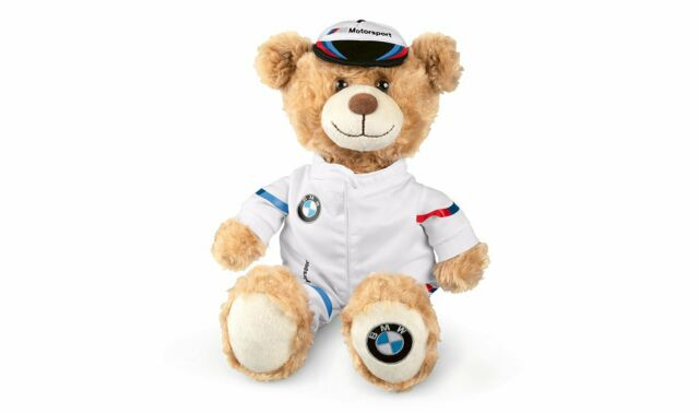 Original BMW M Motorsport Ours en Peluche Avec Capuchon Et Course Costume Neuf