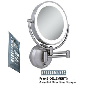 Zadro Ledw410 Led Lighted Wall Mounted Makeup Mirror W