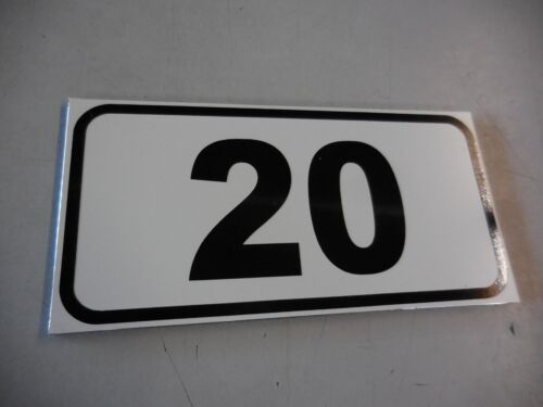 Schild mit Nummern fortlaufende Nummerierung oder Text nach Angabe  160 x 80 mm