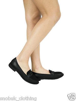 Para mujeres Damas Niñas Nuevos Zapatos Planos Oficina Escuela Inteligente Formal Mocasines Bombas de Tamaño