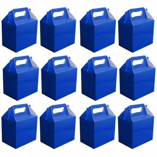20 X Blue Childrens Party Lunch Boxes Takeaway Birthday Wedding Cake Food Bags