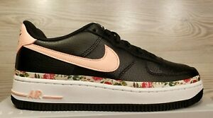 Details about Nike Air Force 1 VF GS Vintage Floral Black Pink BQ2501 001 Youth 5.5 Womens 7