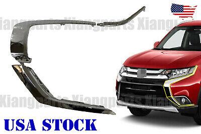 3Pcs Front Bumper Side Molding Trim Chrome for Mitsubishi Outlander 16-19 LH RH