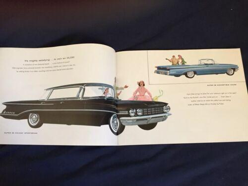 1960 Oldsmobile 88 98 Large Color Brochure Catalogue Prospekt