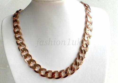 fashion1uk Mens Chunky Heavy Classic Chain 18K Gold Plated 24.4 inches 62cm 130g