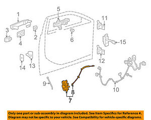 cadillac gm oem 10 14 cts front door lock actuator motor 23190383 ebay rh ebay com GM Engine Parts Diagram GM Performance Parts Catalog