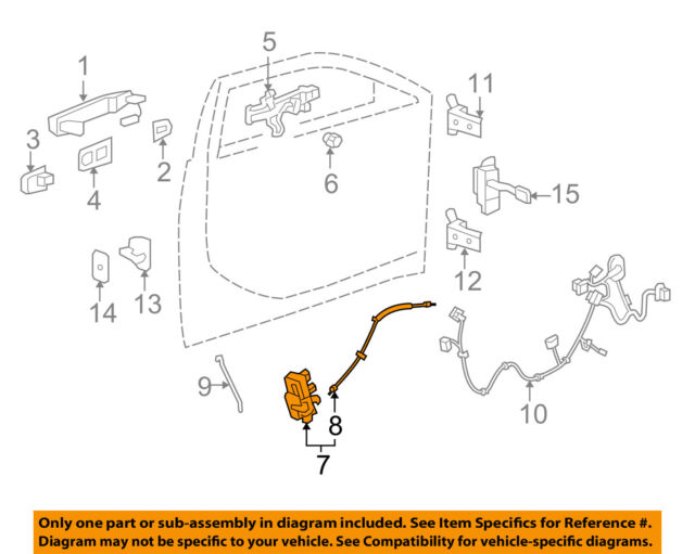 BRAND NEW GENUINE GM OEM DOOR LATCH ASSEMBLY #22862244