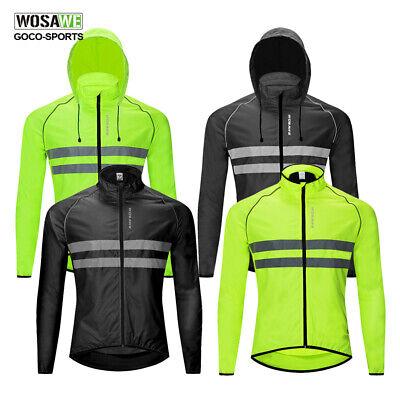 WOSAWE Mens Fleece Reflective Windbreaker Winter Cycling Jacket