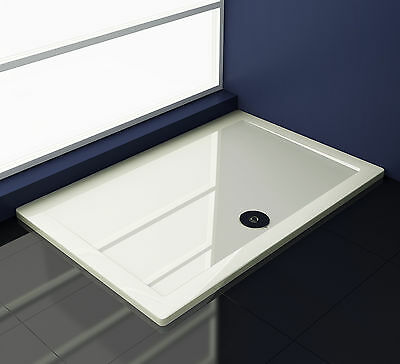 Duschtasse Duschwanne Dusche aus Kunststein Rechteck Brausewanne 30mm flach